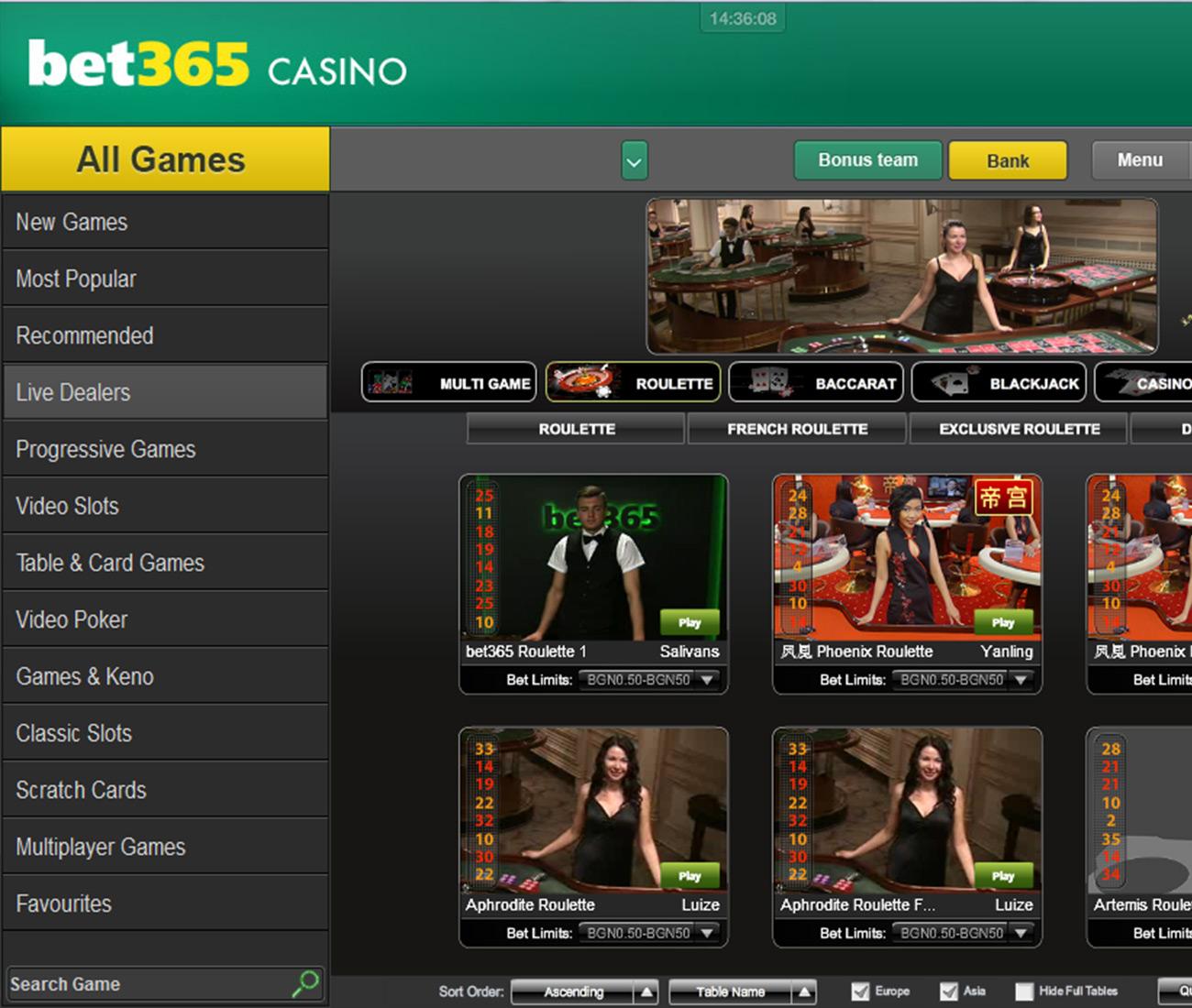 Bet365 Spiele