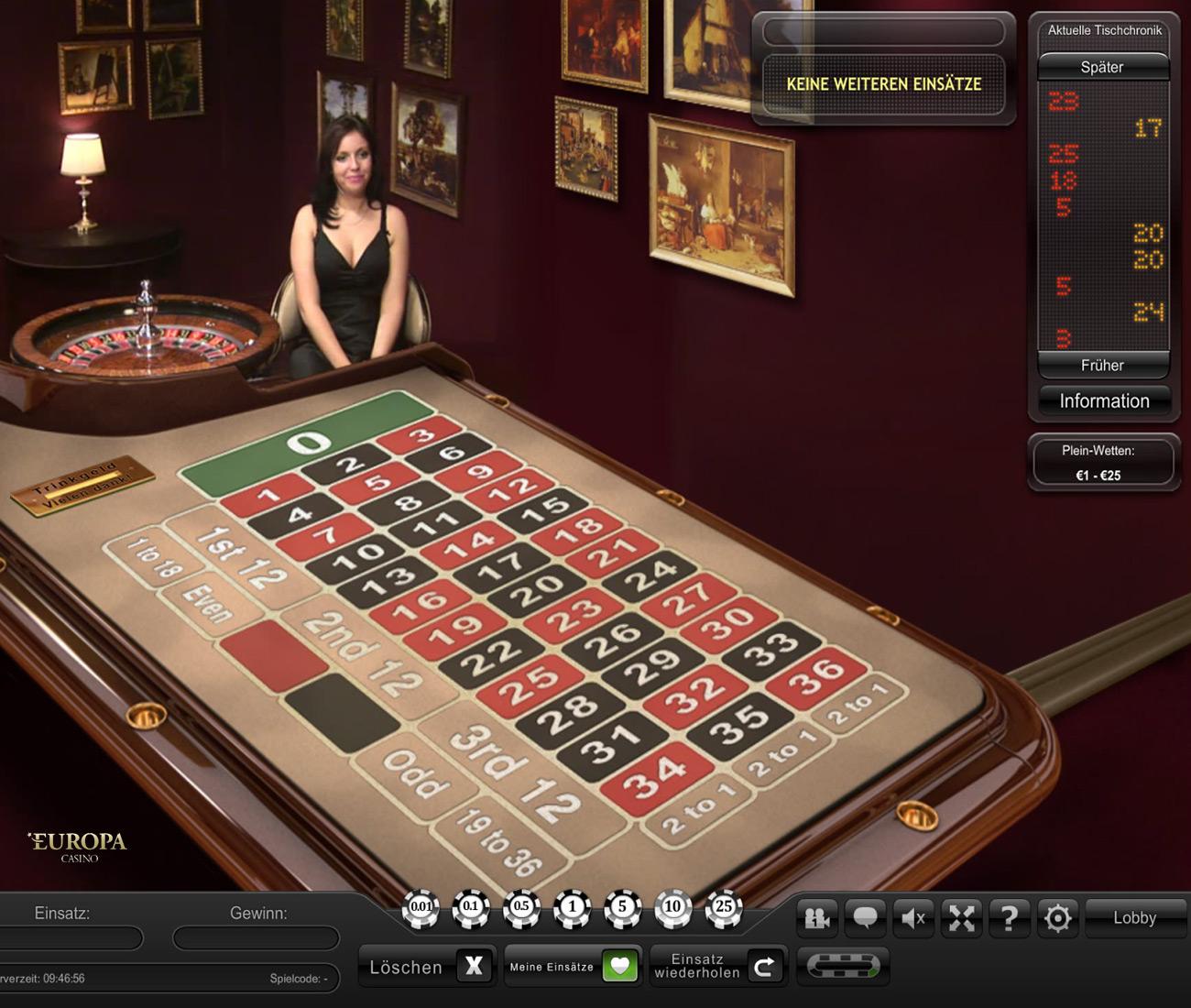 Spielen sie Live Dual Roulette bei Casino.com Österreich